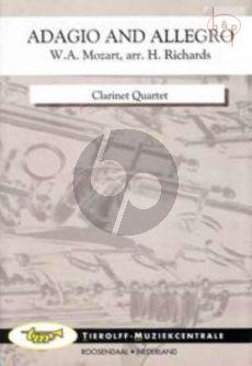 Adagio and Allegro KV 594 (4 Clar.[Bb]) (opt. Clar.[Eb]/Alto Clar.[Eb]/Bass Clar.)