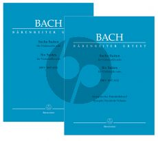 Bach 6 Suites BWV 1007 - 1012 for Violoncello solo 2 Volumes in Paperback (edited by Andrew Talle)