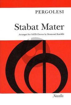 Pergolesi Stabat Mater SATB and Piano Vocal Score (arranged by Desmond Ratcliffe)