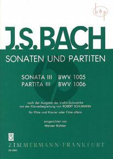 Sonaten-Partiten No.3 BVW 1005 - 1006 Flöte