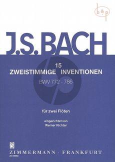 15 2 part Inventions BWV 772 - 786 2 Flutes