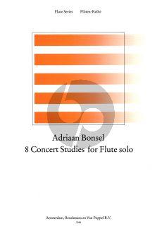 Bonsel 8 Concert Studies for Flute (1963) (Grade 3-4)