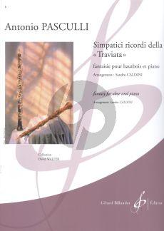 """Pasculli Simpatici ricordi della """"Traviata"""" Hautbois-Piano (arr. Sandro Caldini)"""
