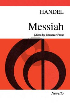 Handel Messiah (Edited by Ebenezer Prout) Vocal Score (Novello)