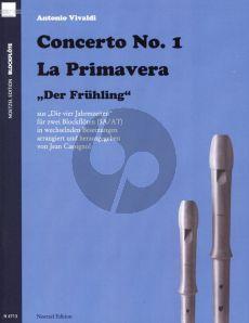 Vivaldi Concerto Op.8 No.1 RV 269 (La Primavera) 2 Recorders (SA /AT) (from 4 Seasons) (arr. Jean Cassignol)