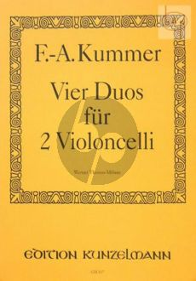Kummer 4 Duos Op.103 2 Violoncellos (Thomas-Mifune)