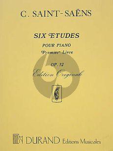 Saint-Saens 6 Etudes Op.52 Premier Livre Piano