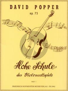 Popper Hohe Schule des Violoncellspiels Op.73 Vol.1