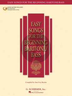 Album Easy Songs for the Beginning Baritone-Bass Singer (Bk-Audio Access Code) (edited by Joan Frey Boytim)