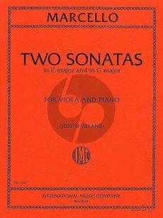 Marcello 2 Sonatas C major and G major Viola-Piano (arr. by Joseph Vieland)
