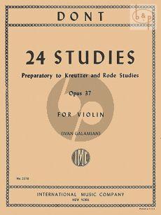24 Studies op.37 Violin