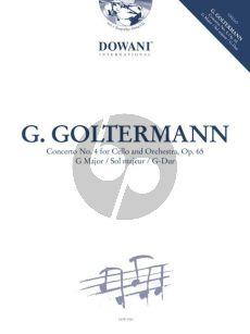 Goltermann Concerto No.4 Op.65 G-Major Violoncello-Orch. (piano red.) (Bk-Cd) (Dowani 3 Tempi Play-Along)