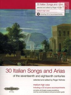 30 Italian Songs & Arias of the 17th/ 18th. Cent. (Medium-High Voice)