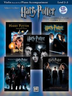 Harry Potter Instrumental Solos (Movies 1 - 5) (Level 2 - 3) (Violin with Piano Accomp.) (Bk-MP3 Cd)