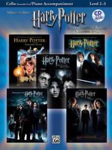 Harry Potter Instrumental Solos (Movies 1 - 5) (Level 2 - 3) (Violoncello with Piano Accomp.) (Bk-MP3 Cd)