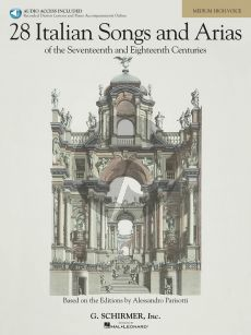 28 Italian Songs and Arias of the 17th. and 18th. Centuries Medium High Voice Book with Audio online (based on the editions of A. Parisotti) (edited by Richard Walters)