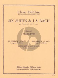 6 Cello Suites (arranged for Clarinet by Delecluse)