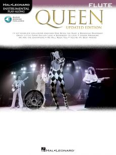 Queen 17 Songs Instrumental Play-Along for Flute (Book with Audio online)