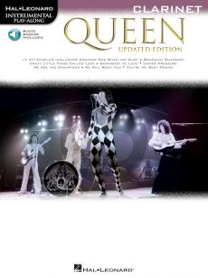 Queen 17 Songs Instrumental Play-Along for Clarinet (updated edition) (Book with Audio online)