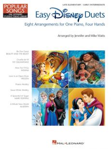 Easy Disney Duets Piano 4 hds. (arr. Jennifer and Mike Watts)