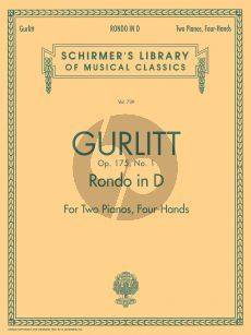 Gurlitt Rondo D-major Opus 175 No. 1 2 Piano's
