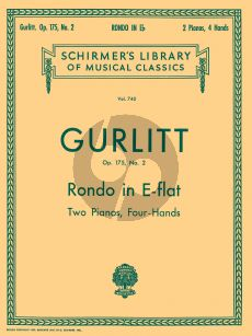 Gurlitt Rondo E-flat major Opus 175 No .2 2 Piano's