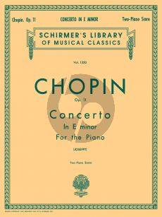 Chopin Concerto No.1 e-minor Op.11 Piano and Orchestra (red. 2 piano's) (edited by Rafael Joseffy)