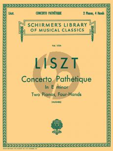 Liszt Concerto Pathetique e-minor (1865) Piano and Orchestra (reduction for 2 pianos)