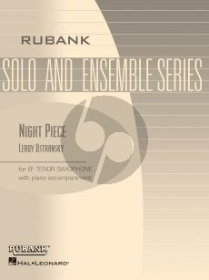 Ostransky Night Piece for Tenor Saxophone and Piano