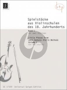 Spielstucke aus Violinschulen des 18 Jahrh. Vol.1