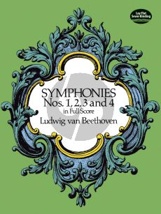 Beethoven Symphonies No.1-2-3-4 Full Score (Dover)