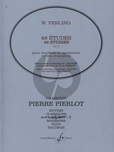 Ferling 48 Etudes Op.31 Hautbois ou Saxophone (Edition Revised and Annotated by L. Bleuzet) (New Revision by Pierre Pierlot)