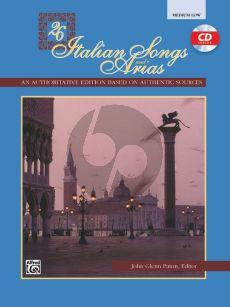 26 Italian Songs and Arias of the 17th & 18th Century Medium - Low (Bk-Cd) (edited by John Glenn Paton)