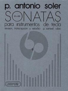 Soler Sonatas Vol.6 (No.91-99) Harpsichord (ed. P.Samuel Rubio)