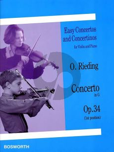 Rieding Concerto G-major Op.34 Violin and Piano (1st Position)