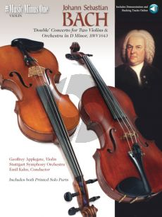 Bach Concerto D-Minor BWV 1043 2 Violins-Orchestra (Bk-2 Cd DeLuxe Set with Slower Tempo Practice Version) (MMO) (with 2 Solo Parts)