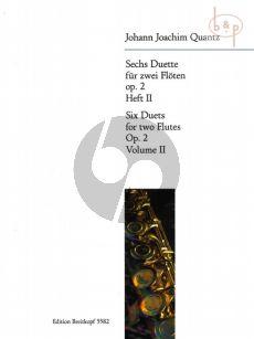 Quantz 6 Duette Op.2 Vol.2 2 Flöten (Stimmen) (Gerhard Braun)