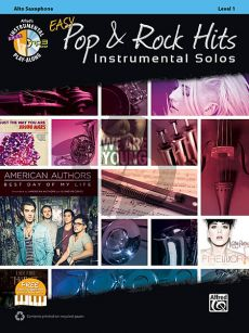 Easy Pop & Rock Hits Instrumental Solos Alto Sax.  (Bk-Cd)