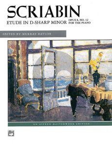 Scriabin Etude D-sharp minor Op.8 No. 12 Piano (edited by Murray Baylor)