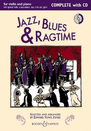 Huws Jones Jazz-Blues & Ragtime Violin (or 2 Violins) and Piano (Guitar ad lib.) (Bk-Cd)