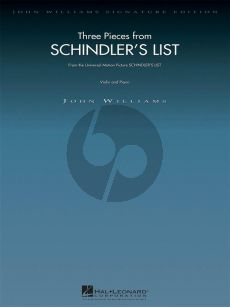 Williams Schindler's List (3 Pieces from) violin-piano