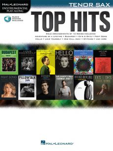 Top Hits Instrumental Play-Along Tenor Sax. (Book with Audio online)