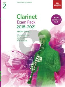 Clarinet Exam Pack 2018–2021 ABRSM Grade 2 Clarinet-Piano (Book with Audio online)