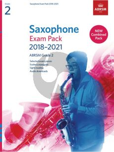 Saxophone Exam Pack 2018–2021, ABRSM Grade 2 Saxophone [Eb/Bb]-Piano (Book with Audio online)