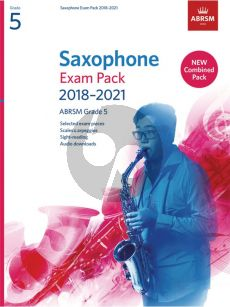 Saxophone Exam Pack 2018–2021, ABRSM Grade 5 Saxophone [Eb/Bb]-Piano (Book with Audio online)