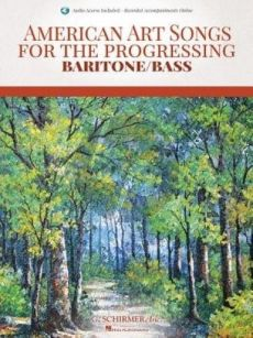 American Art Songs for the Progessing Singer - Baritone/Bass (Book with Audio online)