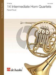 Proust 14 Intermediate Horn Quartets (Score/Parts)