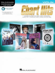 Chart Hits Instrumental Play-Along Violin (Book with Audio online)