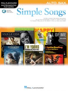 Simple Songs Instrumental Play-Along Alto Saxophone (Book with Audio online)