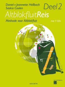 Hellbach-Coolen Altblokfluitreis Vol.2 (Methode voor Altblokfluit) (Boek met 3 CD's)